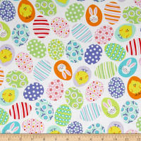 Kanvas Funny Bunnies Decorated Eggs White