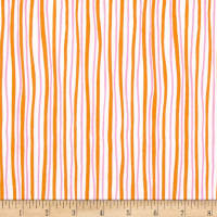 Kanvas Funny Bunnies Wavy Stripe Orange/Pink