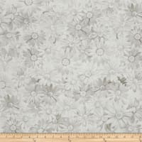 Kanvas White Out White Daisy Taupe/White