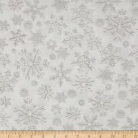 Kanvas White Out Snow Crystals Taupe/White