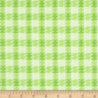 Kanvas Zoo Baby Flannel Zoo Plaid Green