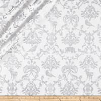 Kokka Classic Animals Canvas Metallic White/Silver