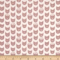 Kokka Trefle Soft Animals Cute Kitten Double Gauze Pink