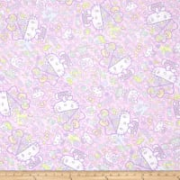 Kokka Sanrio Hello Kitty Fancy Brain Sheeting Light Pink