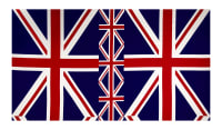 Kokka Trefle Brooklyn Style Union Jack Red