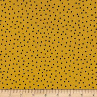 Loralie Designs Dinky Dot Yellow Black