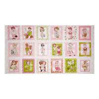 "Loralie Designs On The Mend 23.5"" Panel Pink"