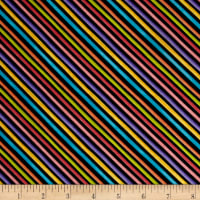 Loralie Designs Blossom Bias Stripe Black