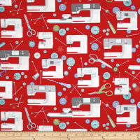 Sewing Room Sewing Machines Red