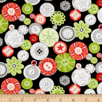 Sewing Room Buttons Black