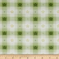 Simply Chic Toile Check Green
