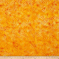 Benartex Balis Batik Sundrenched Ray of Light Tangerine