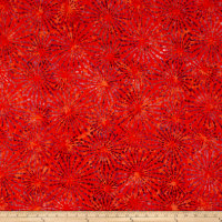 Benartex Balis Batik Sundrenched Ray of Light Persimmon
