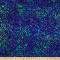 Benartex Balis Batik Color Pop Lilly Leaves Violet