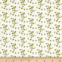 Moda Spectrum Triangles Avocado-Paper