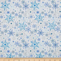 Season's Greetings Snowflake White Metallic