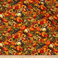 Bountiful Harvest Allover Collage Multi Metallic