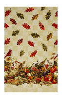 "Bountiful Harvest 56"" Wide Double Border Multi Metallic"