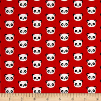 Kaufman Urban Zoology Minis Pandas Red