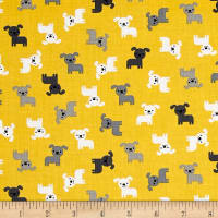 Kaufman Urban Zoology Minis Dogs Yellow