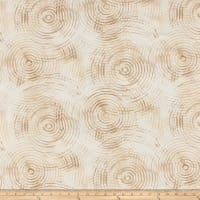 "Circle Play 108"" Wide Back Ombred Circle Geometric Cream"