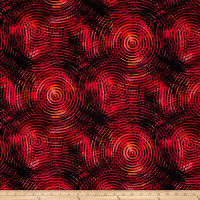 "Circle Play 108"" Wide Back Ombred Circle Geometric Red Tones"
