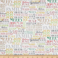 Season's Greetings Words White