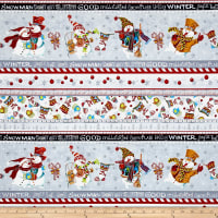 Snowman Christmas Snowman Stripe Black Metallic