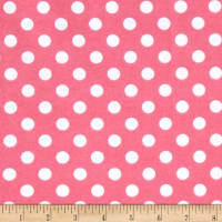 Comfy  Flannel Dot  Pink/White