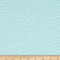 Comfy  Flannel Tiny Flower Blue