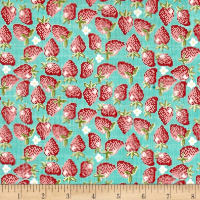 Riley Blake Into the Garden Strawberry Teal