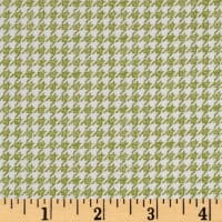 Penny Rose Meadow Sweets Houndstooth Green