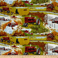 Farmall Four Seasons Scenic Allover Multi