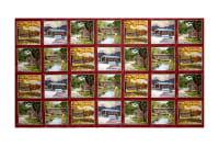 "Coca-Cola Covered Bridges 24"" Patches Panel Multi"
