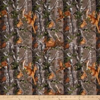 Realtree Flannel Running Deer Camo Multi
