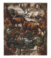 "Realtree Fleece Family Deer Country 48.5"" Panel Multi"