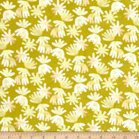 Aria Lawn Brushed Petals Chartreuse