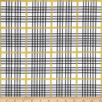 Riley Blake When Skies are Grey Sparkle Plaid White Metallic