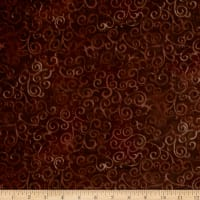 "Quilting Treasures 108"" Wide Quilt Back Omber Scroll Root Beer"