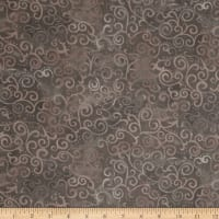 "Quilting Treasures 108"" Wide Quilt Back Ombre Scroll Stone"