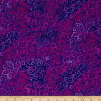 "Quilting Treasures 108"" Wide Quilt Back Ombre Scroll Grape"