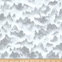 QT Fabrics Imperial Panda Tonal Mountains Gray