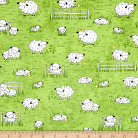 Sheeps & Peeps Grazing Sheep Green