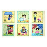 """QT Fabrics Fabric Follies Picture Patches 24"""" Panel Multi"""