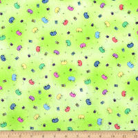 Fabric Follies Tossed Pin Cushions Light Green