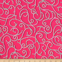 Sweet Rebellion Chain Scroll Fuchsia