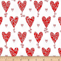 Kick Heart Disease Scroll Hearts White