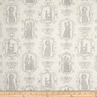 QT Fabrics I Do Bride & Groom Silhouettes Cream