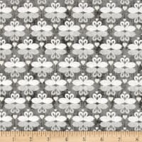 QT Fabrics I Do Swans Dark Gray