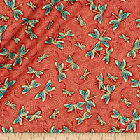 Yuna Metallic Dragonflies Terracotta